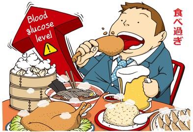 糖尿病の原因は食べ過ぎ