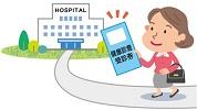 健康診断を持って病院へ向かう男性