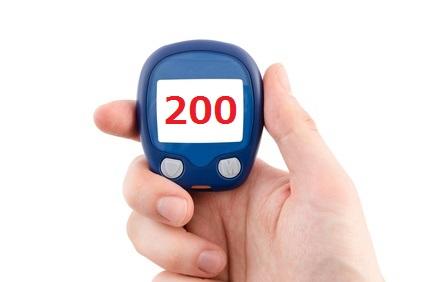 血糖値200以上