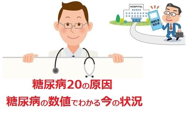 糖尿病の20の原因と糖尿病5つの数値でわかる今の状況